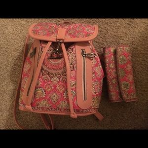 Handbags - Mini backpack and clutch set